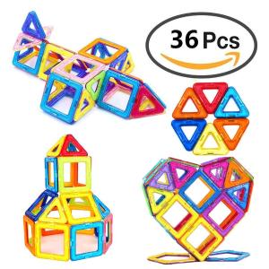 $18.99 (原价$23.99)手慢无:iHoven 儿童益智彩色3D磁性积木 36片