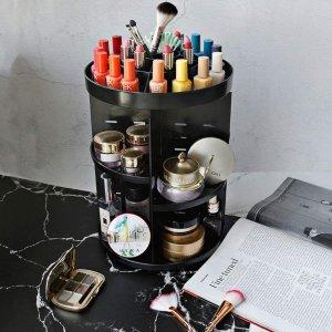 $19.99(原价$29.99)Tebery 360度旋转化妆品收纳 高度自由调节 可移动隔板 一目了然