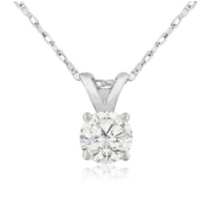 Dealmoon exclusive!$199.991/3ct Diamond Pendant in 14k Gold @ SuperJeweler