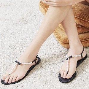 低至3.5折 收仙女风珍珠凉鞋Gilt 精选 Jimmy Choo、Rene Caovilla 等大牌美鞋热卖