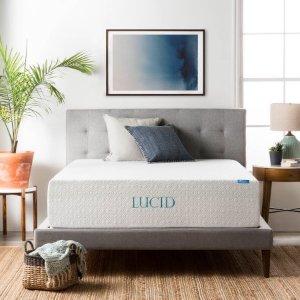 $399Lucid  超舒适14寸三层记忆泡沫床垫 Queen