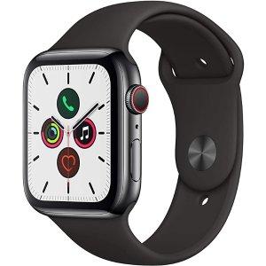 AppleWatch Series 5 (GPS+Cellular, 44mm) -黑色表带