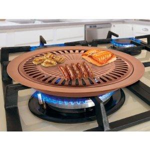 Nonstick Copper Indoor Smokeless Stovetop Grill
