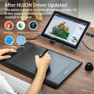 $66.49(原价$89.99)闪购:HUION 绘王 H610Pro V2 专业级2048级压感 电脑绘图平板