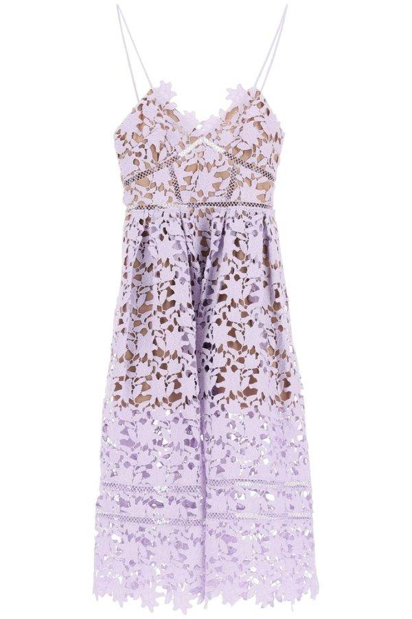 Azaelea香芋紫蕾丝连衣裙
