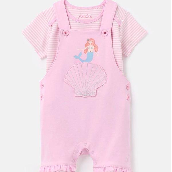 婴儿有机棉美人鱼背带裤套装