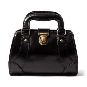 Beara BearaSmall Leather Gladstone Bag, Jaqueline Mini Black by Beara Beara