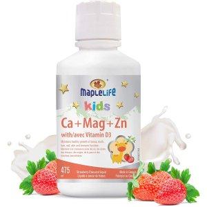 $18.4(原价$21.47)Maplelife 儿童维他命钙、镁、锌 口服液 草莓味 475ml