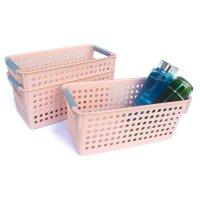 Honla 塑料收纳篮 带提手 3个装 多色可选