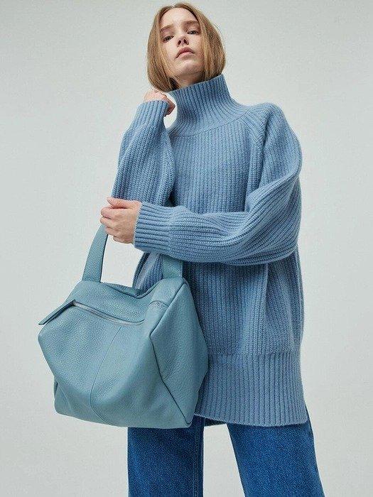 蓝色单肩包