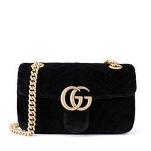 Gucci美国官网定价$1590GG Marmont 迷你丝绒斜挎包