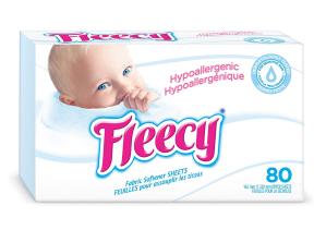 $3.02(原价$5.99)折扣升级:Fleecy 抗过敏衣物烘干纸 80张
