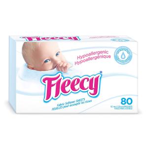 $3.27(原价$5.99)史低价:Fleecy 抗过敏衣物烘干纸 80张