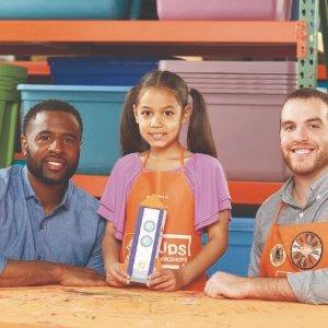 制作 火箭铅笔盒预告:8月 Home Depot 免费的儿童手工活动