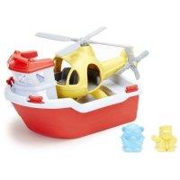 Green Toys 救生船和直升飞机套装
