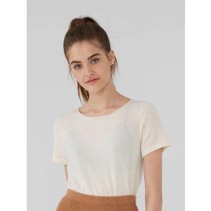 羊绒短袖T恤