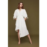 BLANCORE Asymmetric V-neck Dress