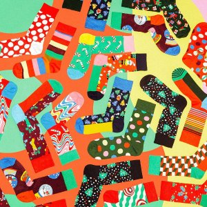 4折起 内裤、袜子全都有Happy Socks 奥莱区优选好物 万圣节限定礼盒仅$38