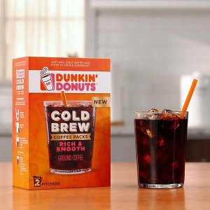 FreeDunkin' Donuts Cold Brew Coffee Trial Sample Pack