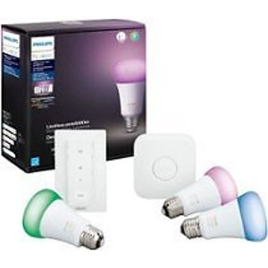 $119.99 (原价$189.99)Philips Hue White&Color Ambiance 入门套件 (3RGB LED+开关)