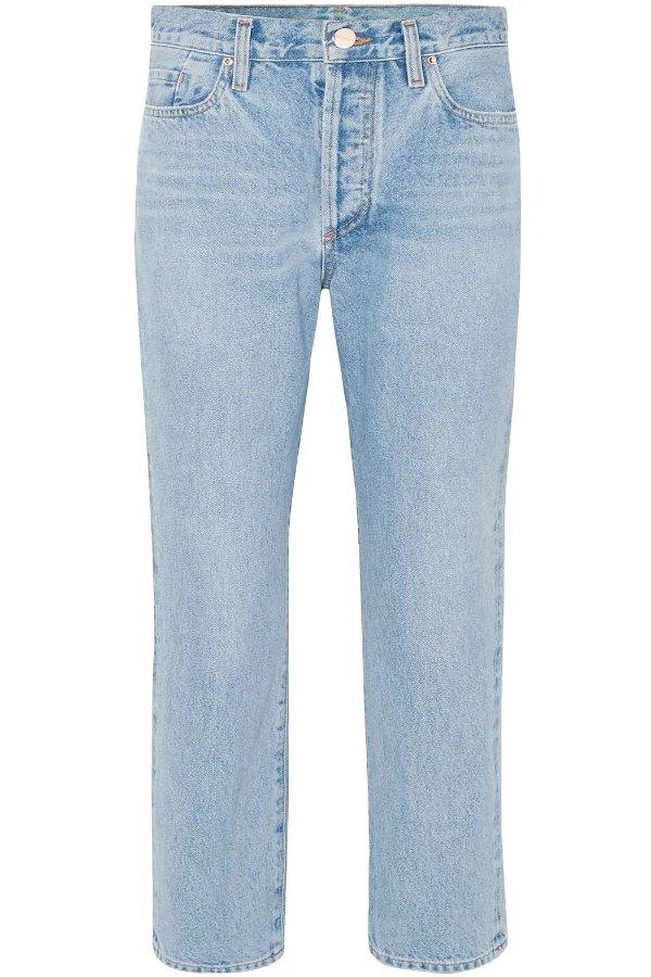 The Low Slung中腰直筒牛仔裤