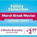 只要$2.99Cineplex 影院  春假期间每天播放4部热门大片