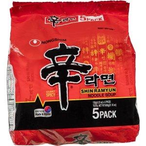 $3(原价$6)即刻下单锁货源少见折扣:Nong Shim 辛拉面  5pk 600g