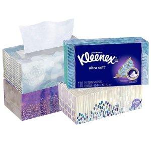 Kleenex 特柔面巾纸110抽4盒,共440抽