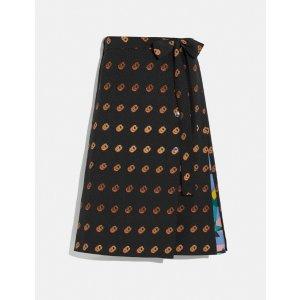 金雪炫同款半身裙印花半身裙