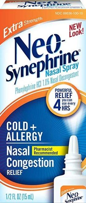 Neo-Synephrine Nasal Spray for Cold & Sinus Relief, Extra Strength, 0.5 Fl Oz