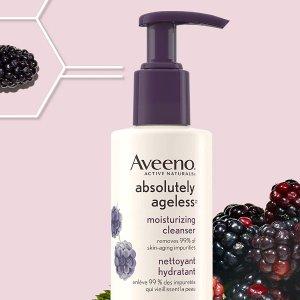 $7.04(原价$10.49)Aveeno 抗衰洁面乳154ml 黑莓复合物 祛除高达99%皮肤老化杂质