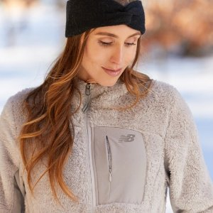 New Balance Women's Full Zip Sherpa Fleece Jacket