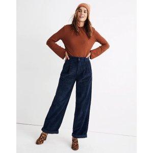 MadewellPleated Wide-Leg Full-Length Pants