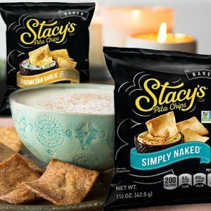 $14.43 免邮 3种口味满足你的味蕾Stacy's pita 缤纷口味烤薄面包脆片 1.5oz 24包