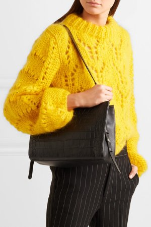 Little Liffner | Croc-effect leather tote