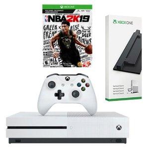 $299.99(原价$410)Xbox One S 3款 主机游戏配件套装可选 麻雀虽小 五脏俱全