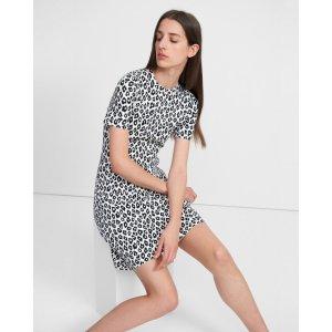 TheoryTee Dress in Leopard Knit