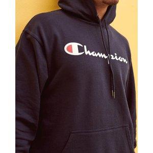 低至5折 Logo T £15起Champion 官网大促 收全款配色卫衣、T恤等好物