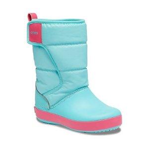 Crocs儿童雪地靴  冰蓝色
