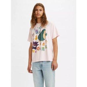 Levi's皮卡丘联名T恤
