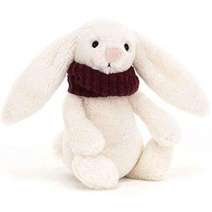 随时没货!戴围巾的兔子-红色