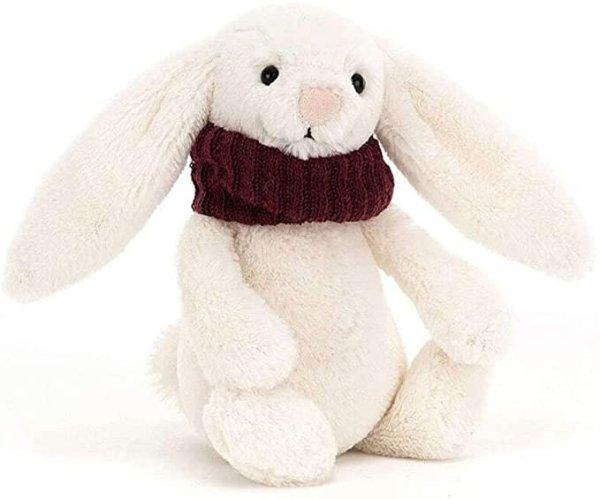 戴围巾的兔子-红色
