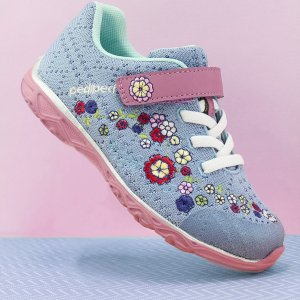 pediped儿童 Flex® Squad 花朵针织运动鞋