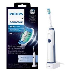 $29.95 (原价$39.99) 性价比之选飞利浦 Sonicare 2100 声波振动电动牙刷 清洁力提升3倍