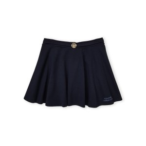 YOUNG VERSACE(Girls 7-16) Blue Flare Skirt