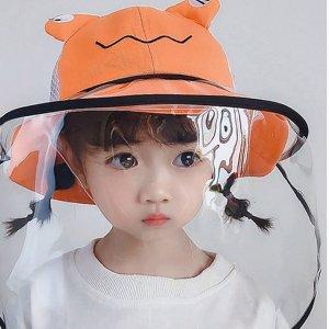 五色可选儿童防喷溅太阳帽
