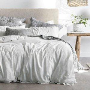 低至5折 $192收交织棉setSheridan 高颜值被套套装暖冬大促 水洗棉款仅$252
