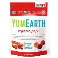 yumearth 天然有机多种口味水果棒棒糖12.3 Ounce 50支