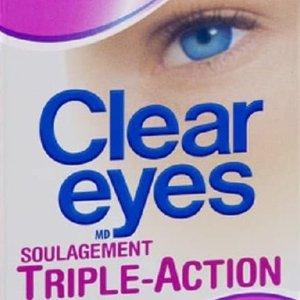 $5.09(原价$6.99)Clear Eyes 去红滋润舒缓强效滴眼露 缓解眼睛干涩