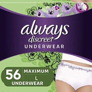 $34.94Always Discreet, Incontinence Underwear for Women